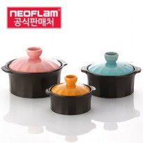 Neoflam/Pottery/Donabe Clay Pot/Heat-Resisting Pot/Egg Cookers 3p set