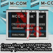 Baterai Cyrus Glory G1000 TBT-9608 Double IC Protection