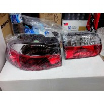 HONDA CIVIC 1992-1996 GENIO 4-DOORS TAIL LIGHT CRYSTAL RED CLEAR