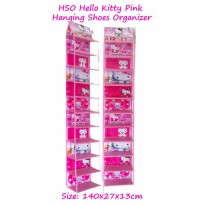 HSO Hello Kitty Pink (Hanging Shoes Organizer) Rak Sepatu Gantung