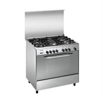 Modena FC3955 Kompor with Big Oven Freestanding [5 Tungku/90 cm/Stainless Steel]
