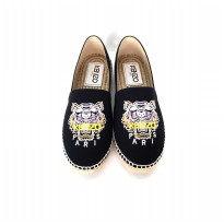 Authentic Kenzo Espadrilles Shoes Canvas - Black Yellow