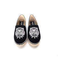 Authentic Kenzo Espadrilles Shoes Canvas - Black White