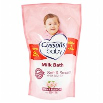 Cussons Baby Milk Bath Soft and Smooth Refill - 600+150 ml