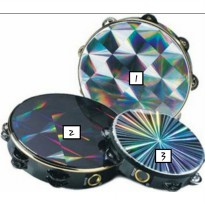 TAMBOURINE HOLOGRAM 10 INCHES single ring