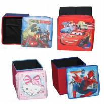 Multi Function Folded Storage Box - Chair Box - Box lipat bisa di dudukin