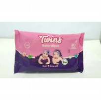 Twins Baby Wipes Soft and Smooth 20's