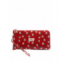 London Berry by HUER Kimberly Zipper Long Wallet Red