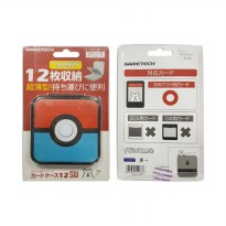 Gametech Pokeball Nintendo Switch Game Card Case - Red Blue 12 Game