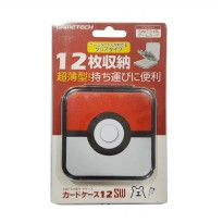 Gametech Pokeball Nintendo Switch Game Card Case - Red White 12 Game
