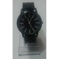Obral NEW BLACK FACE GENEVA II JAM TANGAN MODEL BARU JELLY SILICONE WATCH