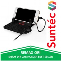 Remax Super Flexible Car Holder with Micro USB & Lightning Charger by Suntec-Gadget