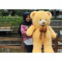 Boneka Beruang Teddy Bear Cream Super Jumbo 120 CM