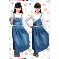 Bananana Plain Ripped Overall Skirt [5-10 Tahun]