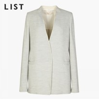 [list] Chiffon color one button jacket -TWJKF11100 GR ship from korea fashion style