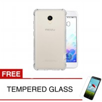 ShockProof Case For Meizu M5s - 5.2 inch - Clear - Gratis Tempered Glass