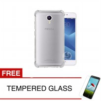 ShockProof Case For Meizu M5 Note - 5.5 inch - Clear - Gratis Tempered Glass