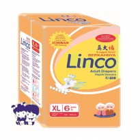 Popok Dewasa Adult Diapers Pampers LINCO XL6 size XL isi 6 pcs