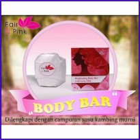 FAIR N PINK BRIGHTENING BODY BAR SOAP with GOATS MILK