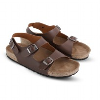 Sandal Pria/Sandal Casual Pria JK Collection JDO 6403 COKLAT