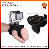360 Degree Glove Hand Strap For Sport Cam SJCAM SJ4000 SJ5000 & GOPRO HERO 4 3 Plus 3