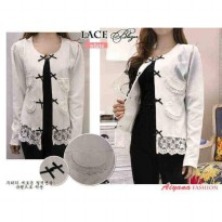 Blazer putih bless high quality
