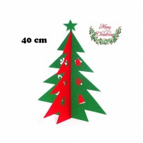 Christmas Decoration Table Top Tree Non Woven Star (40 Cm)