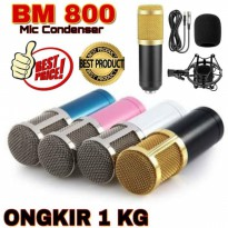 PAKET BM800 BM 800 Mic Condenser Stand Microphone Smule Youtuber