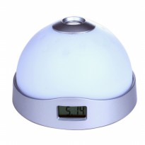 Star Night Light Magic Projection Alarm Table Clock - White