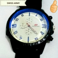 (TIMBUL)/SWISS ARMY ARLOJI/STAINLESS STEEL/FOR MAN/BLACK/BLUE GLASS