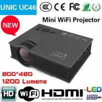 UNIC UC46 Projector / Proyektor WIFI Home Projector 1200LM