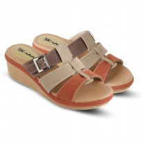 Sandal Wanita/Sandal Wedges JK Collection JTI 4021 KREM
