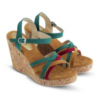 Sandal Wanita/Sandal Wedges JK Collection JTI 4003 HIJAU