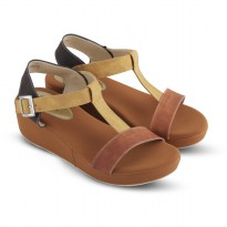 Sandal Wanita/Sandal Wedges JK Collection JTI 4005 COKLAT
