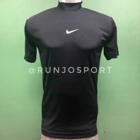 Manset - Baselayer Football - Baju Baselayer Unisex - Baselayer Pendek - Hitam BNK