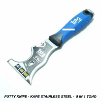 Putty Knife - Kape Stainless Steel - 9 in 1