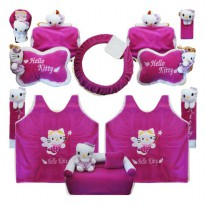 Bantal Mobil Exclusive 8 in 1 Boneka Hello Kitty Ungu