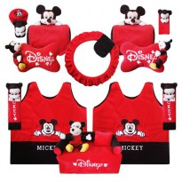 Bantal Mobil Exclusive 8 in 1 Boneka Mickey
