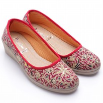 Dr.Kevin Canvas Wedges Shoes 43127 Red