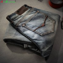 [globalbuy] Famous Spring Summer Retro Nostalgia Straight Denim Jeans Men Plus Size 28-38 /4138091