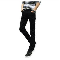 [globalbuy] 2016 male black skinny jeans shorts mens clothing trend slim small trousers ma/4138053