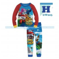 GW203H - Pajamas Super Wings Red Blue
