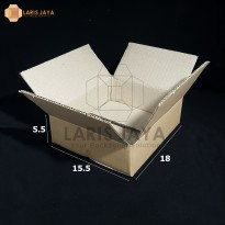 Kardus / Box / Karton / Kotak Packing - 18 x 15,5 x 5,5 cm
