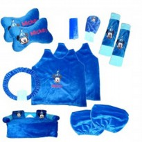 Bantal Mobil Exclusive 8 in 1 Mickey Biru