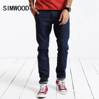 [globalbuy] SIMWOOD 2016 new autumn winter men jeans causal fashion pants full long denim /4138008