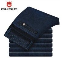 [globalbuy] 2015 New Mens Plus Size Jeans Brand Gusic Big Size Jeans Casual Pants Denim Sl/4137924