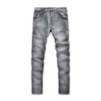 [globalbuy] New arrival nostalgia retro jeans men hight quality fashion elasticity jeans c/4137999