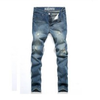 [globalbuy] 2015 Fashion Brand Classic Mens Tapered Jeans Robin Jeans Pants Men Denim Pant/4137989