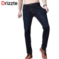 [globalbuy] Drizzte Brand Men Jeans Size 28 to 42 Black Blue Stretch Denim Slim Fit Men Je/4137864