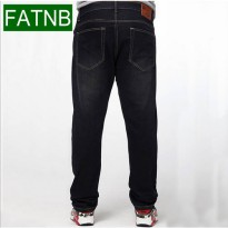 [globalbuy] Brand men jeans loose plus size 5XL straight classic casual business true jean/4137826